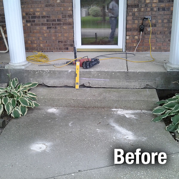 Fort Wayne Concrete Step Repair - Before