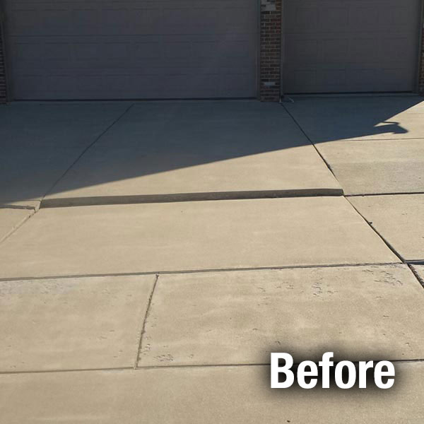 A-1 Concrete Fort Wayne Driveway Leveling - Before