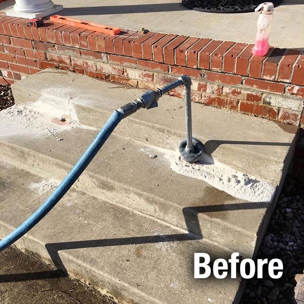 Fort Wayne​ Concrete Steps Leveling - Before