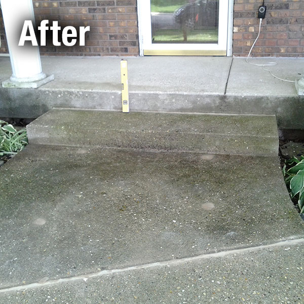Fort Wayne Concrete Step Repair - After