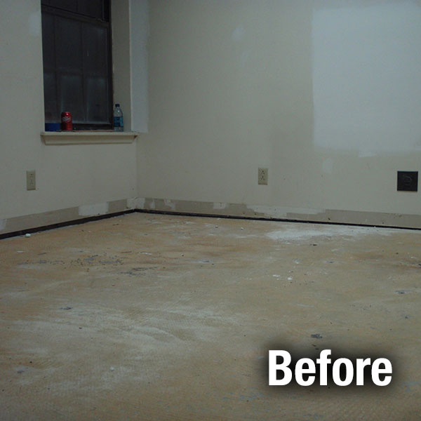 Fort Wayne​ Concrete Floor Leveling - Before