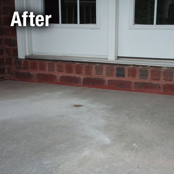 Fort Wayne Concrete Porch Leveling - After